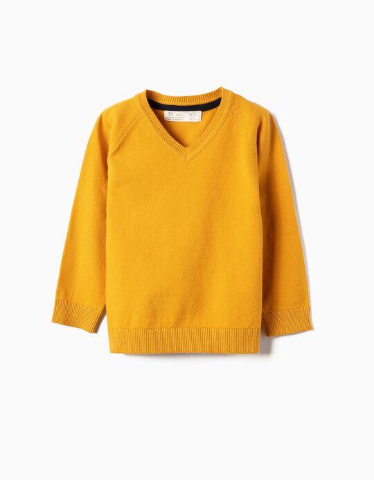 Camisola de Malha para Bebé Menino, Amarelo