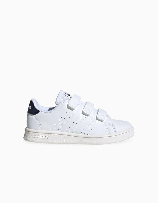 Sapatilhas para Criança 'Adidas Advantage', Branco/Azul