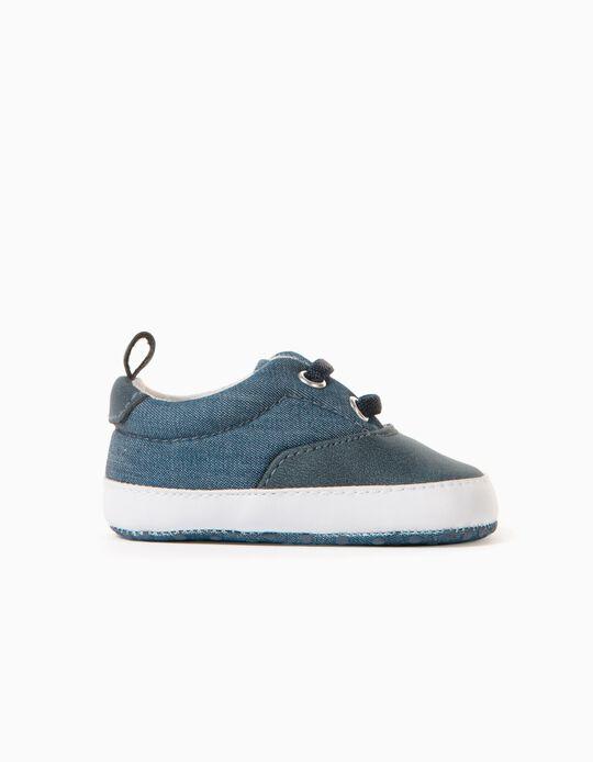 Zapatillas Tejido para Recién Nacido, Azul