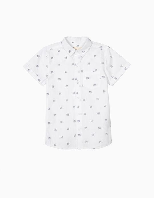 Camisa para Menino 'Surf, Sleep, Repeat', Branco