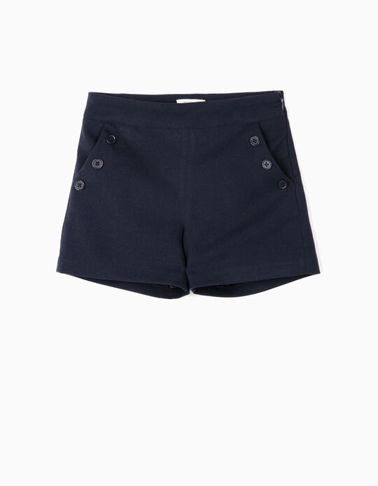 Shorts for Girls 'B&S', Dark Blue