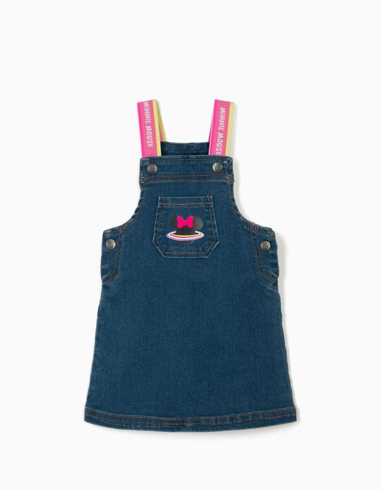 Denim Pinafore Skirt for Baby Girls 'Minnie Mouse', Blue