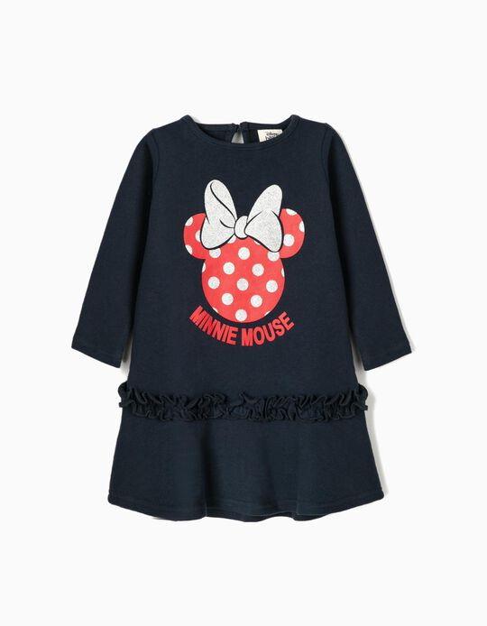 Dress for Baby Girls 'Minnie Mouse', Dark Blue