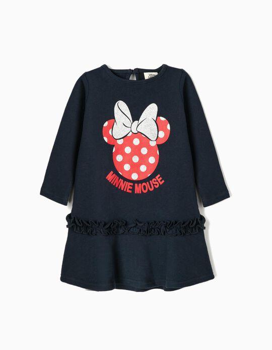 Vestido para Bebé Menina 'Minnie Mouse', Azul Escuro