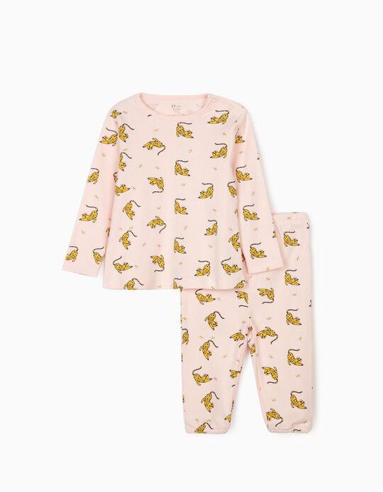 Pijama para Bebé Niña 'Leopard Queen', Rosa