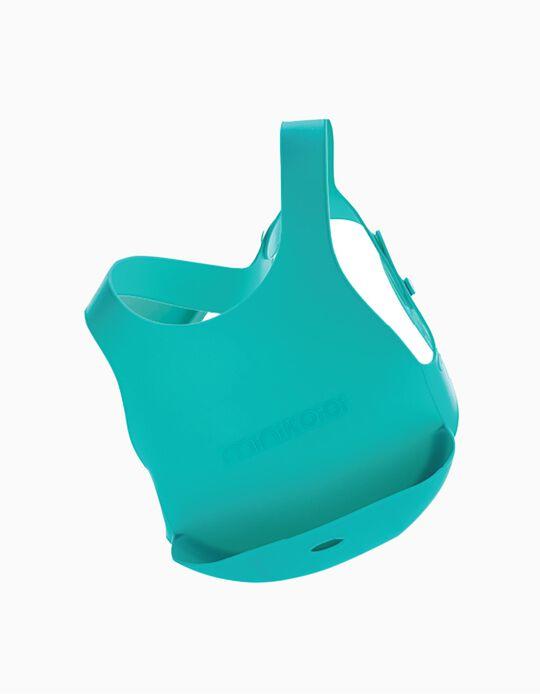 Babete de Silicone Minikoioi Verde 6M+