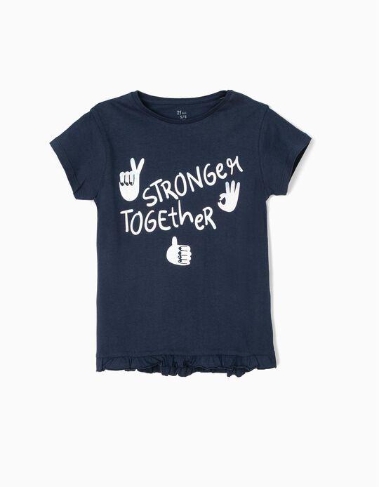 Camiseta para Niña 'Stay Strong', Azul