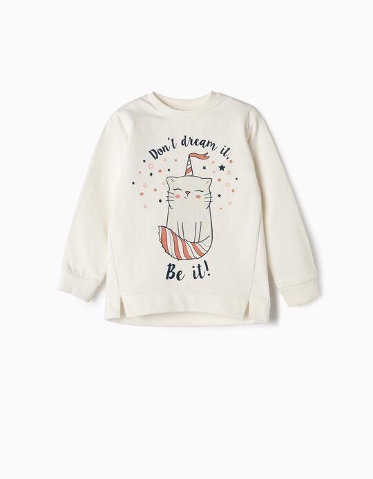 Sweatshirt para Menina 'Be It', Branco