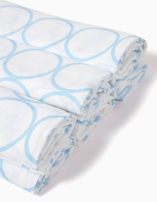 Pack of 6 Muslin Nappies 65 x 65 cm by Zy Baby