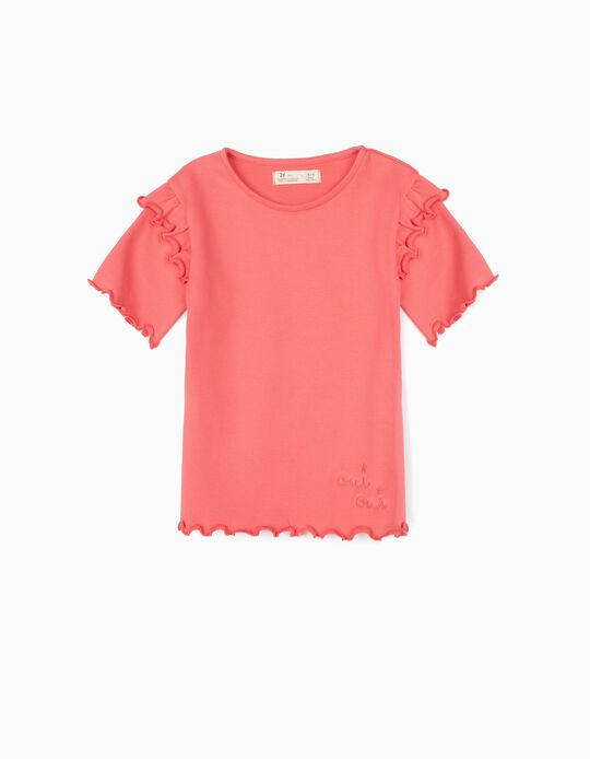 Camiseta de Canalé para Niña 'Oui Oui', Rosa