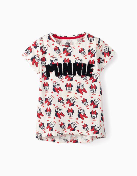 T-shirt para Menina 'Minnie', Branco
