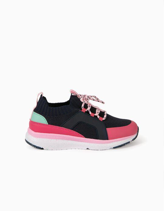Zapatillas para Niña 'ZY Superlight Runner', Azul Oscuro/Rosa