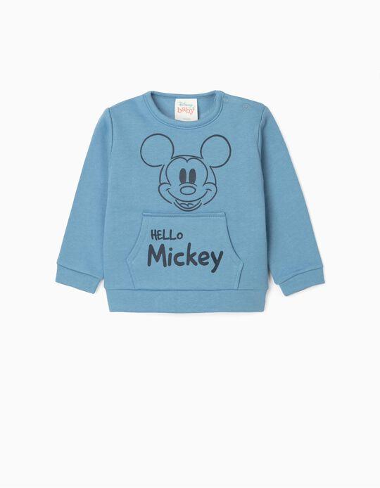 Sweat nouveau-né 'Hello Mickey', bleu
