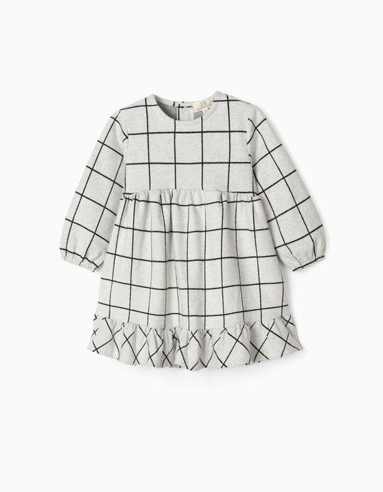 Vestido para Bebé Menina 'B & S', Cinza