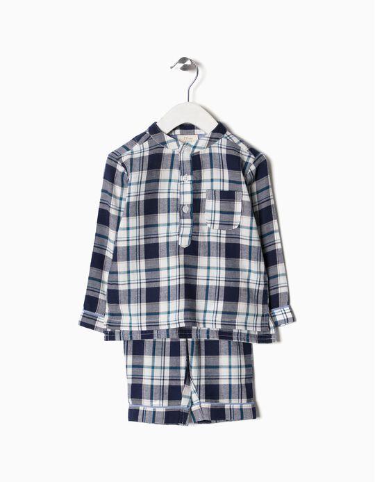 Pijama Xadrez Bebé Menino