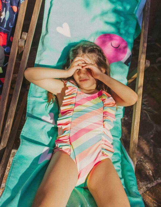 Bañador Protección UV 80 para Niña 'Stripes', Multicolor
