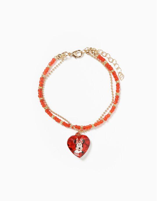 Bracelet for Girls 'Minnie', Red/Gold