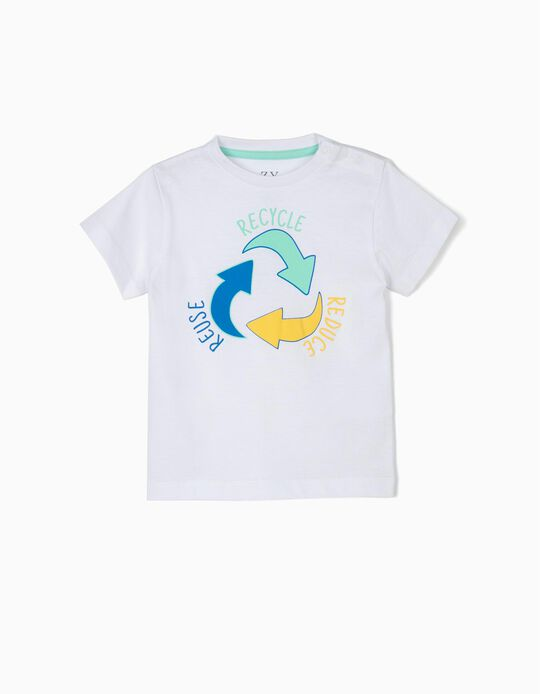 T-shirt for Baby Boys 'Recycle', White