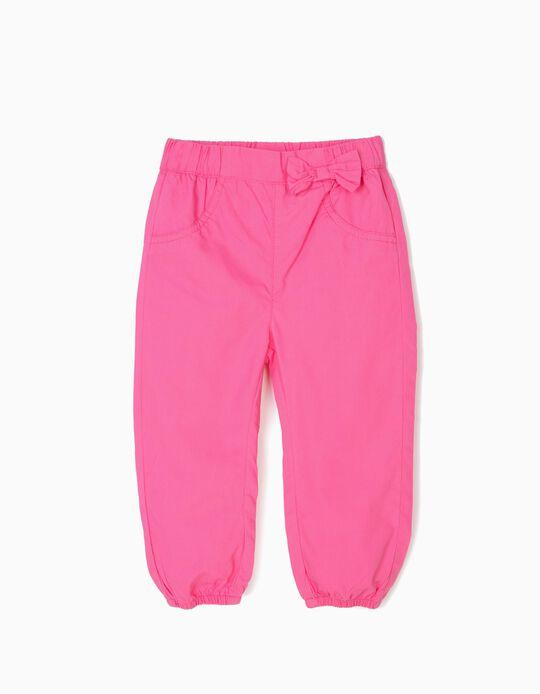 Pantalón para Bebé Niña con Lacito, Rosa