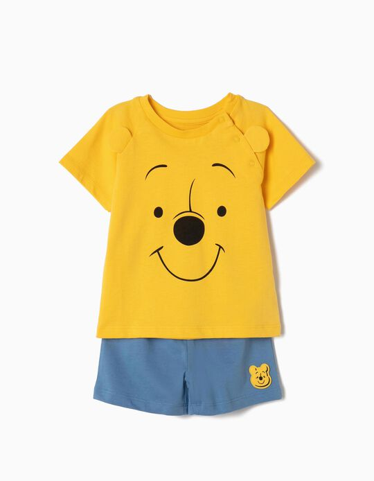 Pijama para Bebé Menino 'Winnie The Pooh', Amarelo e Azul