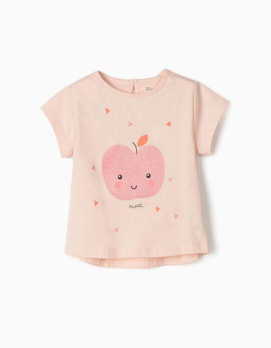 Camiseta para Bebé Niña 'Sweet', Rosa