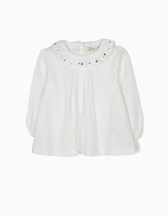 Blusa Blanca de Lunares