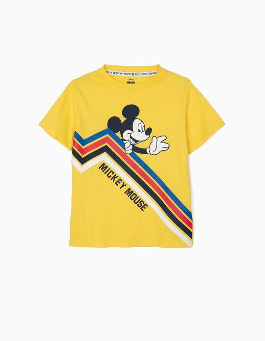 Camiseta para Niño 'Mickey Mouse', Amarilla