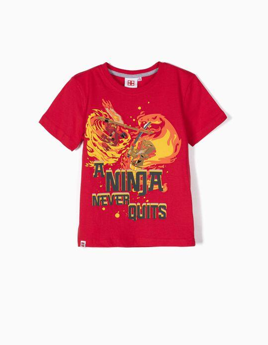 T-shirt para Menino 'Lego Ninja', Vermelho