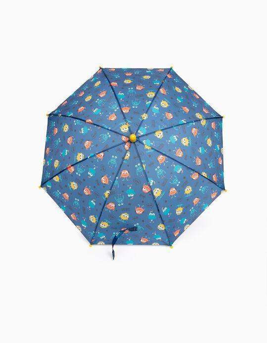 Paraguas para Niño 'Monsters', Azul/Amarillo