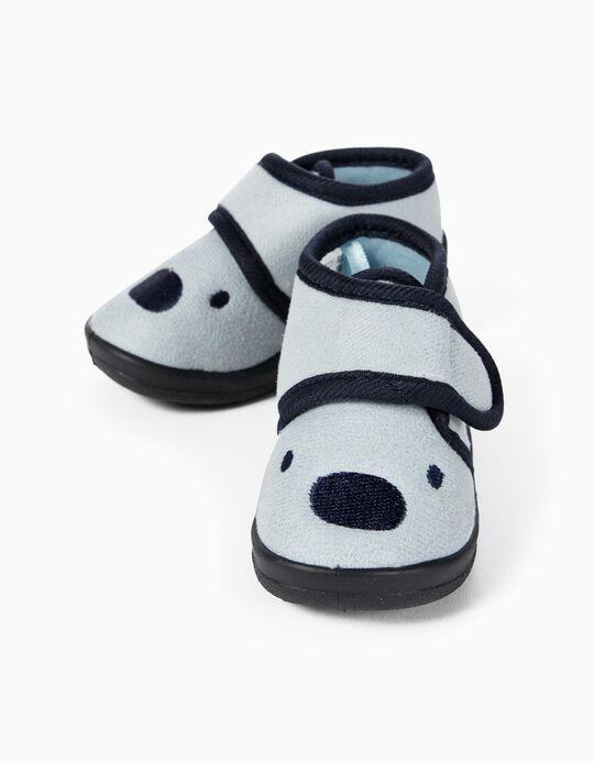 Zapatillas de Casa para Bebé Niño 'Teddy Bear', Azul