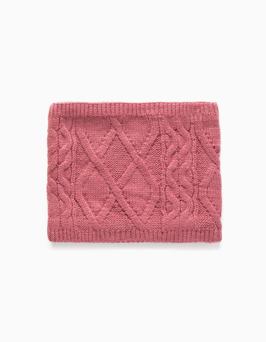 Knit Snood for Babies and Children, Pink