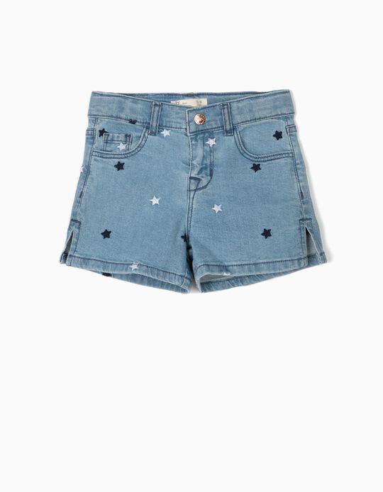 Denim Shorts for Girls, Stars