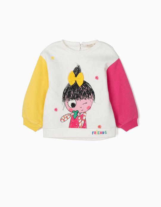 Sweatshirt para Bebé Menina 'Friends', Branco