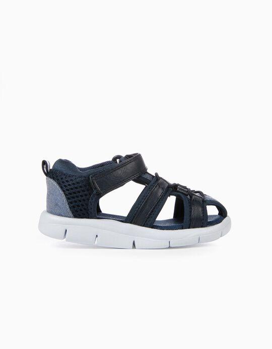 Sandálias para Bebé Menino, Azul Escuro