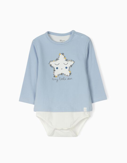 Body nouveau-né 'Tiny Little Star', bleu/blanc