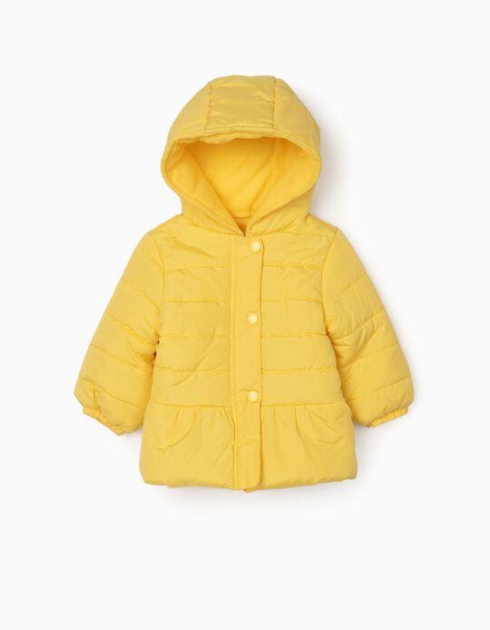 Cazadora Acolchada para Bebé Niña, Amarilla