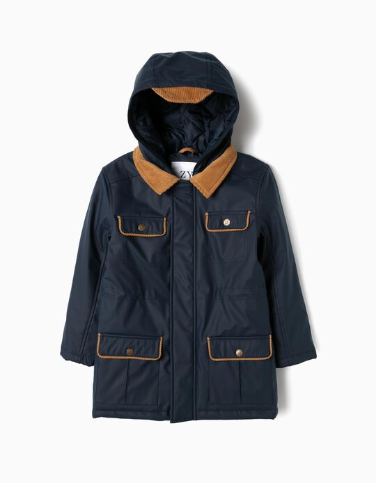 Padded Parka for Boys, Dark Blue