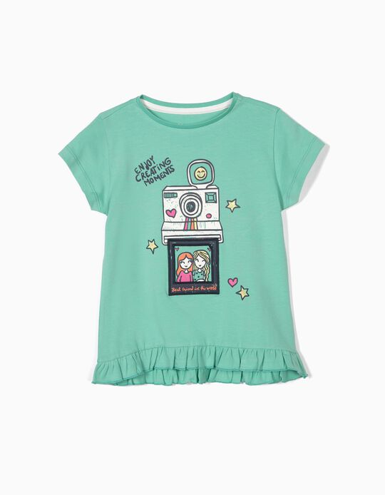 T-shirt for Girls 'Creating Moments', Green