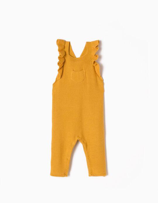 Macacão de Malha Amarelo