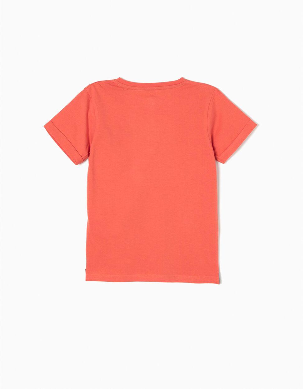 Camiseta con Botones Azul