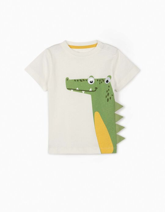 T-shirt for Baby Boys, 'Croc', White