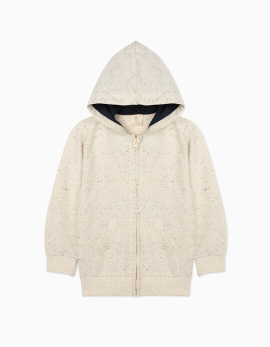 Hooded Jacket for Boys, Marl Grey