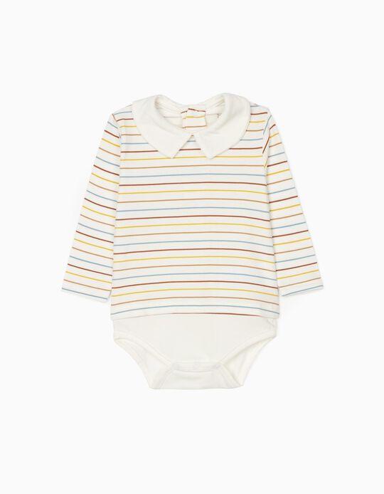 Shirt-Bodysuit for Newborn, White