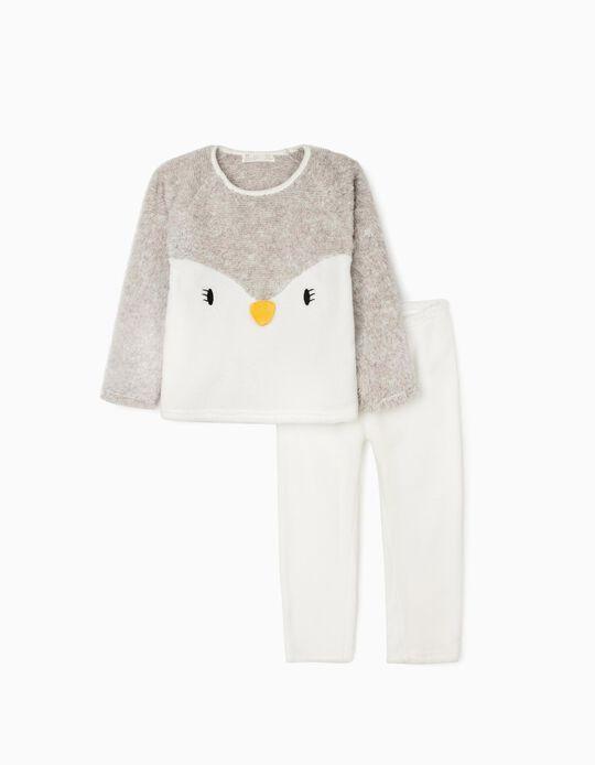 Pijama para Niña 'Lady Penguin', Blanco/Gris