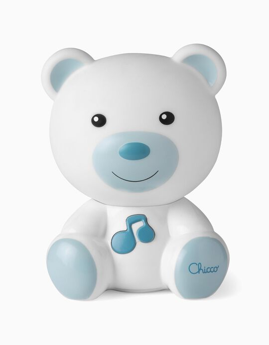 Ourson musical Chicco bleu