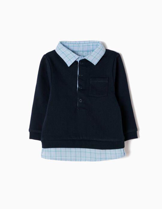 Sweatshirt Combinada Azul