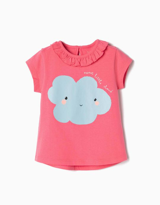 Camiseta para Bebé Niña 'Sweet Little Cloud', Rosa