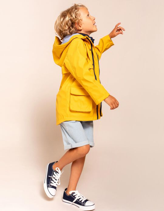 Hooded Parka for Boys, Yellow