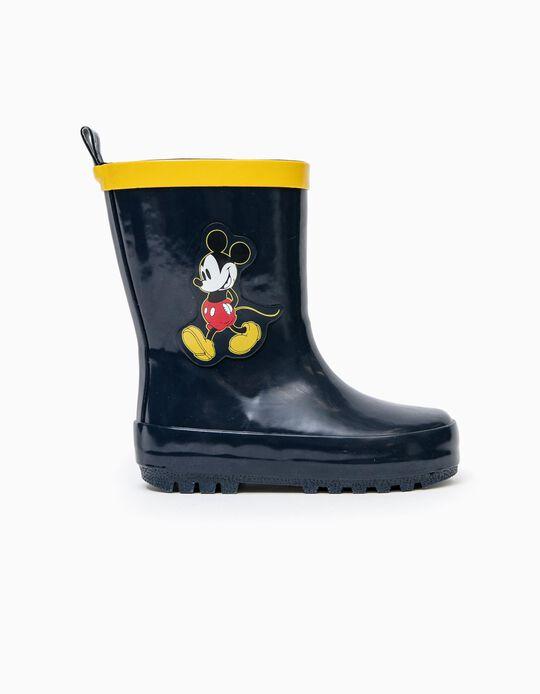 Botas de Goma para Bebé Niño 'Mickey', Azul Oscuro