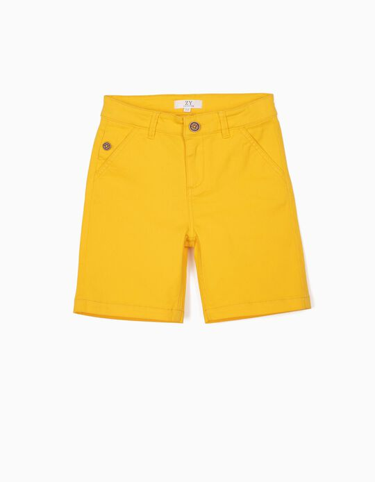 Chino Shorts for Boys, Yellow